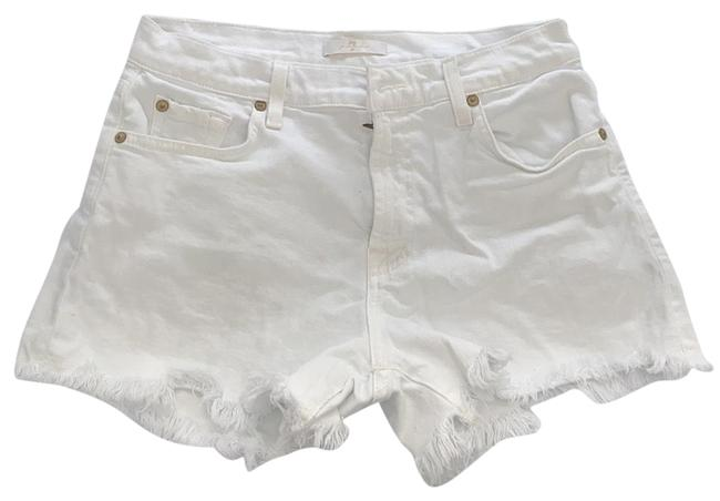 Item - White Light Wash Denim Shorts Size 4 (S, 27)