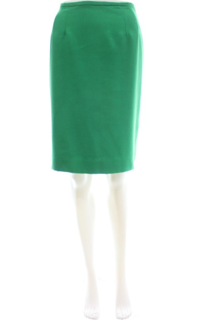 Item - Green Cotton Pencil Skirt Size 8 (M, 29, 30)