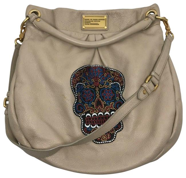 Marc by Marc Jacobs Skull Customized Beighe Leather Cross Body Bag Marc by Marc Jacobs Skull Customized Beighe Leather Cross Body Bag Image 1