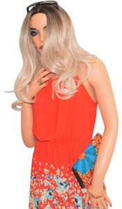 Collective Concepts short dress Orange Floral on Tradesy