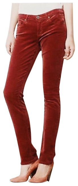 Item - Red Orange The Stevie Slim Straight Rust Corduroy Pants Size 10 (M, 31)
