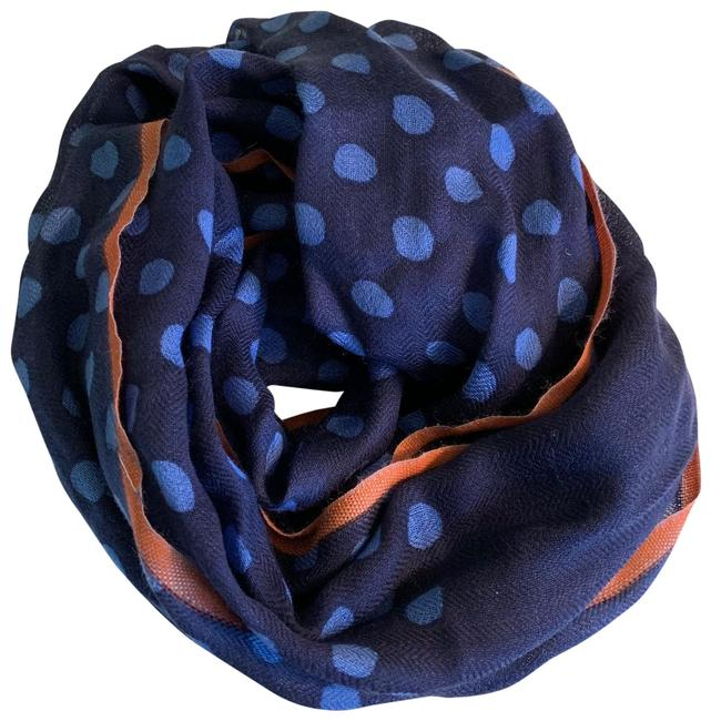 Item - Multicolor Blue and Orange Scarf/Wrap