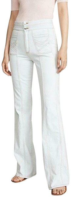 "Item - White Light Wash Farrah 11"" Rise Wide-leg Belize Flare Leg Jeans Size 24 (0, XS)"