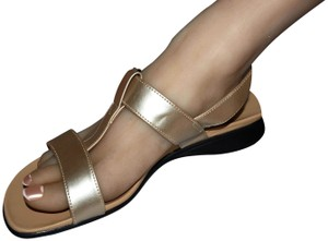 Basic Editions Golden Wide Sexy Comfy Gold Sandals