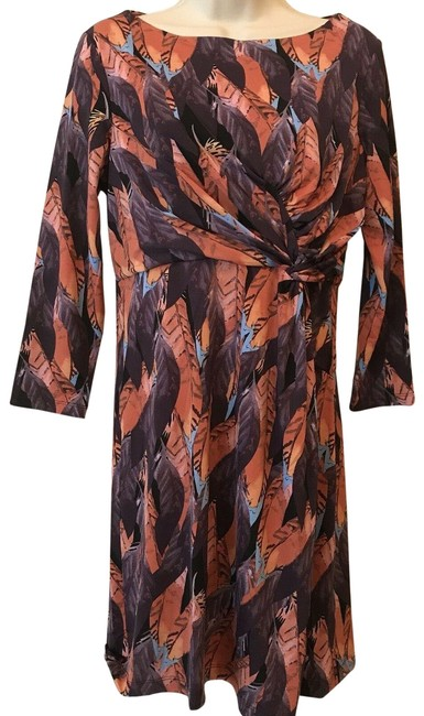 Item - Multicolor Marilyn Feather Short Casual Dress Size 12 (L)