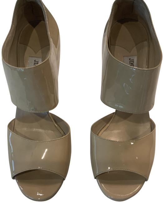 Jimmy Choo Nude Platform Sandals Size EU 39.5 (Approx. US 9.5) Regular (M, B) Jimmy Choo Nude Platform Sandals Size EU 39.5 (Approx. US 9.5) Regular (M, B) Image 1