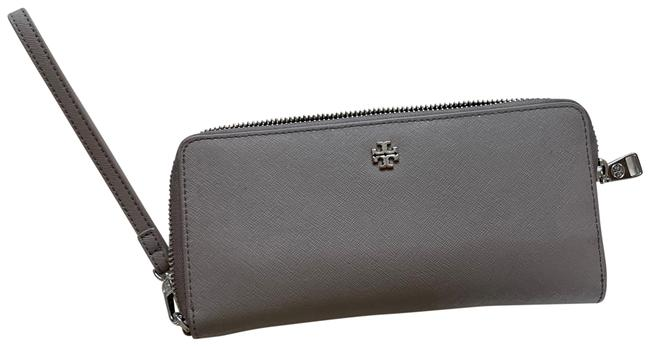 Item - Gray Leather Zip with Wristlet Wallet