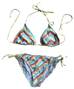 Xhilaration Striped Glitter Bikini