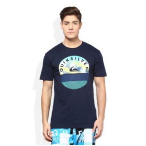 Quiksilver T Shirt Washed Navy