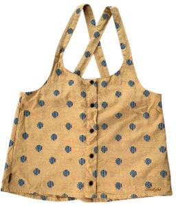 insight Top mustard yellow with multi color dots