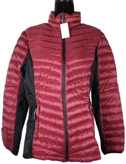 Item - Red (Rhododendron) Heat Women's Mixed Media Jacket Coat Size 16 (XL, Plus 0x)