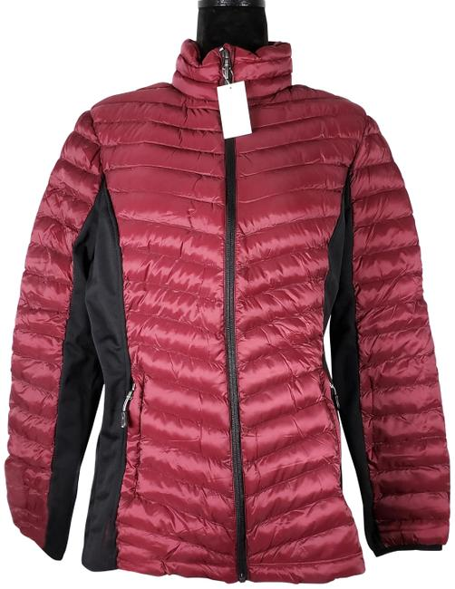 Item - Red (Rhododendron) Heat Women's Mixed Media Jacket Coat Size 22 (Plus 2x)