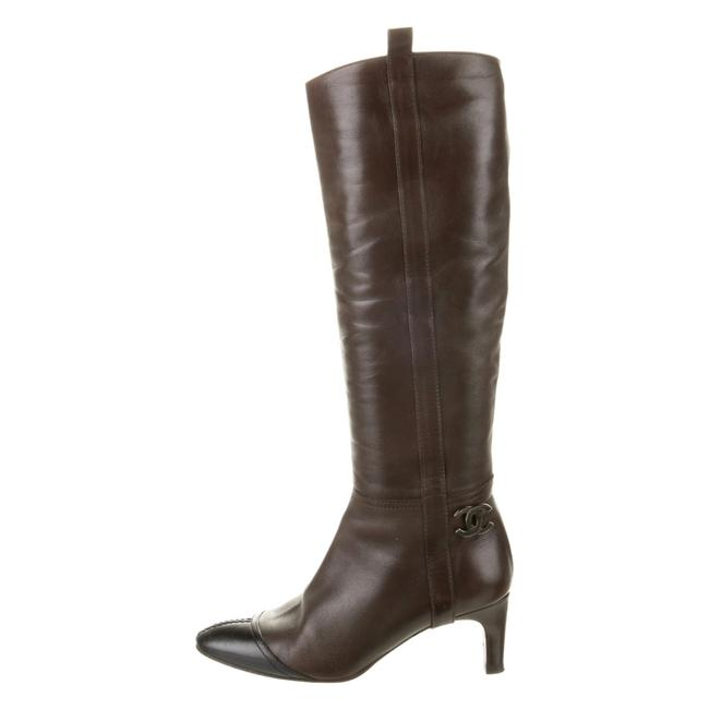 Item - Brown Leather Cap-toe Boots/Booties Size EU 36.5 (Approx. US 6.5) Narrow (Aa, N)