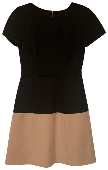Item - Black and Tan Hannah Color Blocked Mid-length Work/Office Dress Size 4 (S)