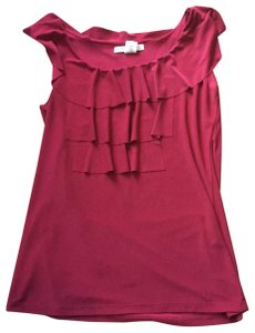 Claudia Richard Top Maroon