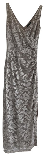 Item - Champagne Evening Gown Long Formal Dress Size 8 (M)