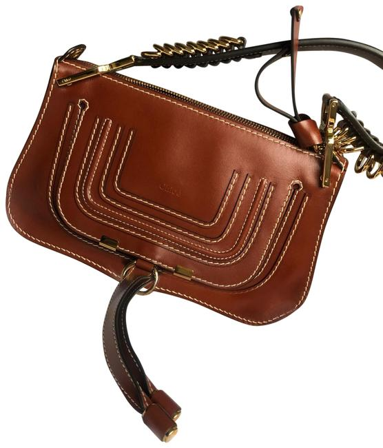 Item - Marcie Small Saddle Shoulder Brown Leather Cross Body Bag