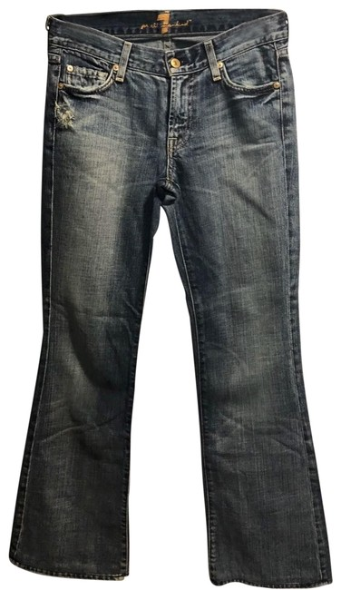 Item - Blue Distressed Boot Cut Jeans Size 4 (S, 27)