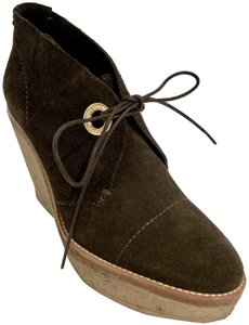Andrew Stevens Suede Grommet Laces Rubber Brown Boots