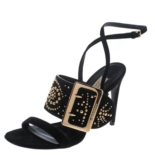 Burberry Black Suede Stud Embellished Padstow Ankle Wrap Sandals Size US 9 Regular (M, B) Burberry Black Suede Stud Embellished Padstow Ankle Wrap Sandals Size US 9 Regular (M, B) Image 1