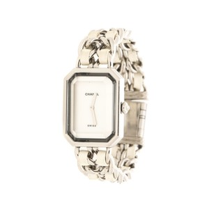 Chanel White Mother of Pearl Stainless Steel Women's Wristwatch 20 mm