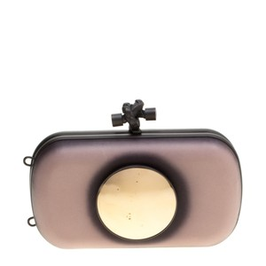 Bottega Veneta Leather Black Clutch