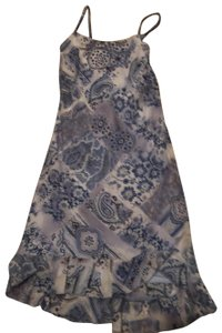 multi blue print color Maxi Dress by Believe