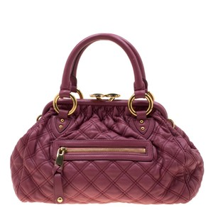 Marc Jacobs Quilted Leather Satchel in Pink