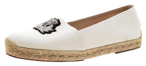 Christian Louboutin Canvas Embroidered Espadrille White Flats