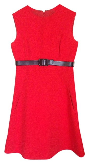 Chuck Howard short dress fire engine red Couture Mod 60s on Tradesy