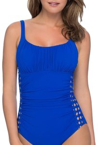 Profile by Gottex $128 PROFILE BY GOTTEX Blue Diamond Batik One Piece Swimsuit 12 NWT! NEW!