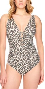 Swim Solutions Wild thing brown print one piece slimming