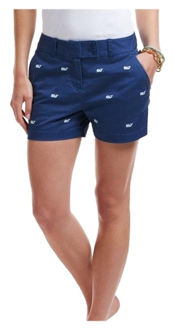 Item - Navy Embroidered Whale Shorts Size 4 (S, 27)