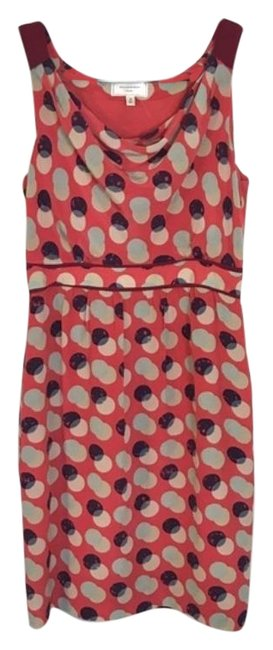 Item - Pink Beige Blue Moulinette Soeurs Silk Polka Dot Short Casual Dress Size 8 (M)