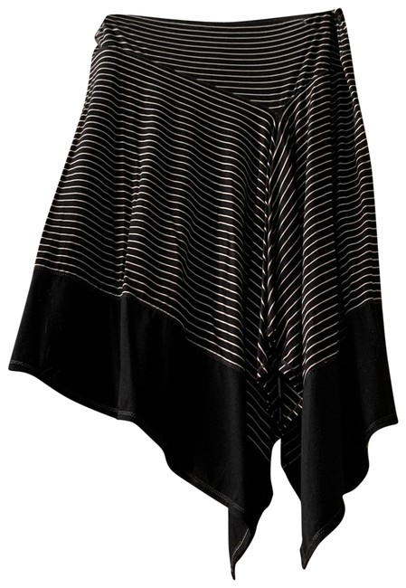 Item - Black and Taupe Asymmetrical Striped Skirt Size 6 (S, 28)