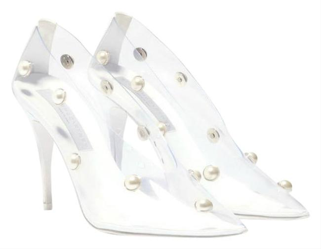 Item - White Clear with Pearls Pumps Size EU 39.5 (Approx. US 9.5) Regular (M, B)