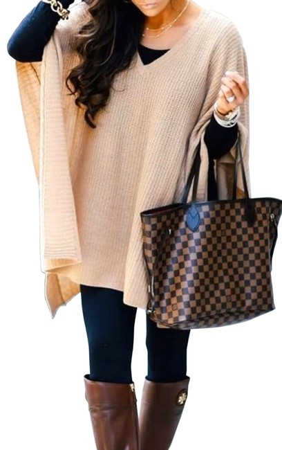 Item - L Poncho M/L Beige Sweater