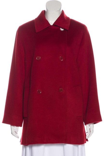 Item - Burgundy Red Camel Hair Mid-length Coat Size 10 (M)