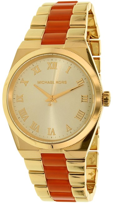 Item - Yellow / Gold / Orange Mk6153 Channing Champagne Dial Two Tone Watch