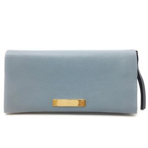 Chloé Leather with Navy Zip Pouch
