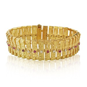 Cartier Ruby And Diamond One Line Vintage