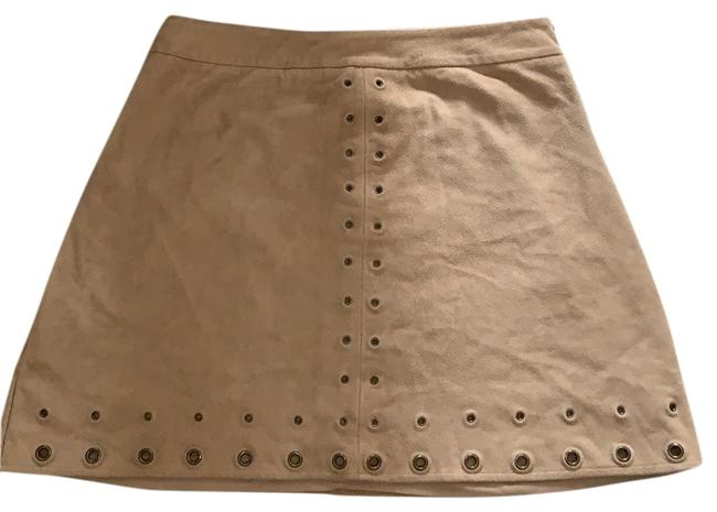 Item - Brown Faux Suede Grommet Skirt Size 2 (XS, 26)