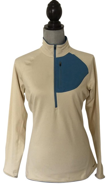 Patagonia Beige and Blue Perfect Activewear Top Size 8 (M) Patagonia Beige and Blue Perfect Activewear Top Size 8 (M) Image 1