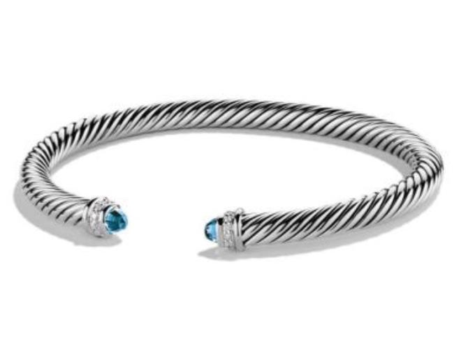 David Yurman 5mm Cable Classics with Topaz and Diamonds Bracelet David Yurman 5mm Cable Classics with Topaz and Diamonds Bracelet Image 1