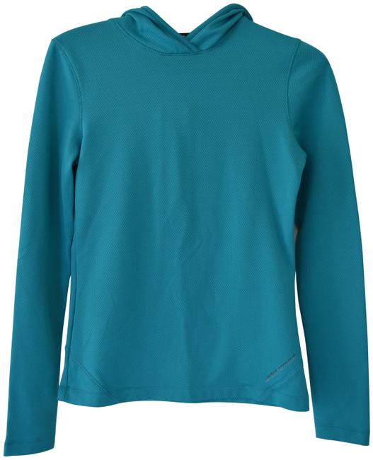 Item - Teal Fleece Lined Hooded Running Activewear Top Size 8 (M)