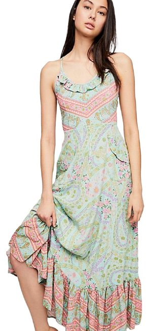 Item - Pink City Lights Strappy Long Casual Maxi Dress Size 2 (XS)