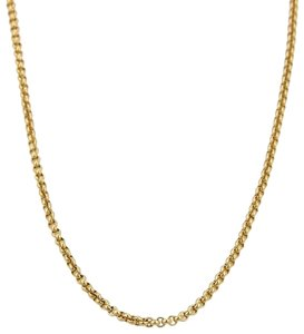 "Chopard Classic 18k Yellow Gold 2mm Rolo Link Chain 17"" Long"