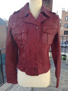 Brogden Leather Motorcycle Red Jacket