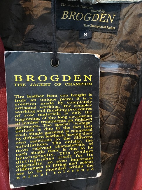 BROGDEN Leather Distressed Motorcycle Jacket