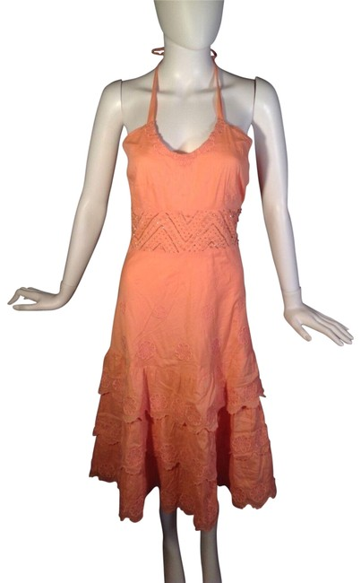 Item - Pink Underwater Rhapsody Mid-length Short Casual Dress Size 4 (S)